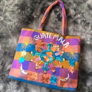 Guatemala Vintage XL Woven Beach Bag